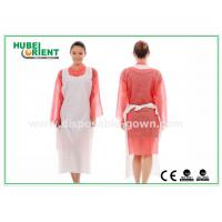 Quality CE Transparent Plastic PE Disposable Aprons for Food Service , Medical Grade for sale