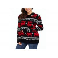 Buy cheap Knitted Hoodie Women Ugly Christmas Sweater Round Neck For Winter Warm from wholesalers
