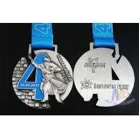 Quality Singing Riding Marathon Custom Sports Medals Cut Out Design 3D effect With Sublimated Ribbon for sale
