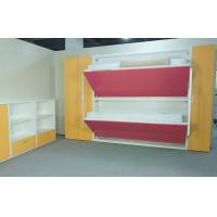 Wood panel bunk wall beds for domitory e1 grade material for Panel beds for sale