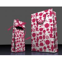 Buy cheap Customized Printing Wholesale Paper Gift Bags with Handles , Resuable and Eco-friendly from Wholesalers