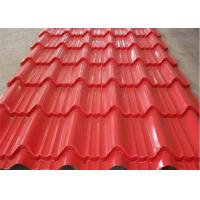 Quality Red Hot Dipped Galvanized Steel Sheet High Intensity  Fire Resistance for sale