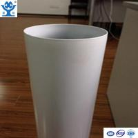Quality Competitive price extruded white powder coated aluminum tube for sale