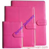 Quality Custom girl Leather Note book, pink leather notebook, gift business notebook for sale