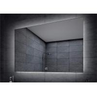 Quality Frameless led backlit led bathroom mirror , lighted bathroom vanity wall mirror for sale