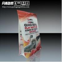Quality Laminated Flat Bottom Ziplock Stand Up Pouches, Quad Seal Bags Doypack for sale