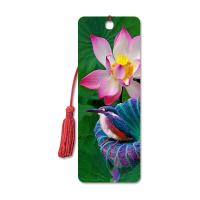 Quality High Definition 3D Lenticular Bookmark 6 x 12 cm 4 Colors Customized for sale