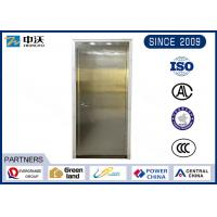 Quality Environmental Stainless Steel Fire Rated Doors With Anti Fire Perlite Cotton Plate for sale