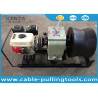 Quality 3 Ton Cable Drum Pulling Winch Machine With Petrol Engine Power for sale