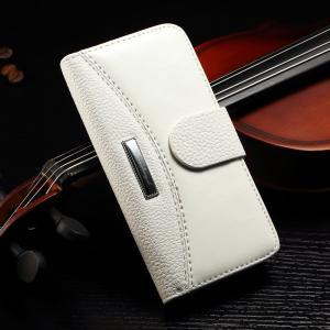 No Scratch Iphone 7 Leather Wallet Case , Paint Oil Split Vintage Wallet Case