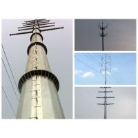 Quality power transmission  monopole steel tower for sale