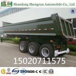 Quality Shengrun 3axle Dump Trailer/ Hydraulic Rear Tipping Trailer for sale