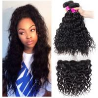 Quality Black Color Cambodian Virgin Hair / Natural Wave Hair Extensions No Shedding for sale