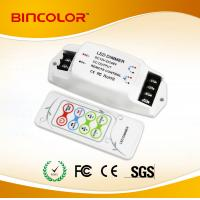 China DC12V-24V  3 channels Constant Voltage RGB LED strip controller with RF remote control on sale