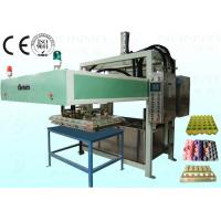 China Semi Automatic Pulp Tray Machine , Eco Paper Moulding Pulp Egg Tray Forming Machine on sale