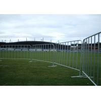 Quality Zinc Coated Steel Pedestrian Crowd Control Barriers For Sport Ground for sale