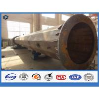 550kv high voltage steel transmission poles face to face joint mode OEM / ODM accepted