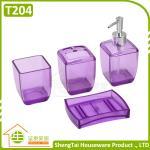 Quality Latest Fashion Design Transparent Color Plastic Bathroom Sets For Bathroom Decor for sale