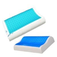 Quality Contour Gel Memory Foam Pillow For Airplane / Bedding / Bath Washable Velour Cover for sale