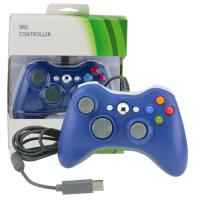China Ergonomic Xbox 360 Gamepad Controller , Blue Wired Xbox 360 Controller For PC on sale