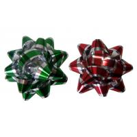 Quality Decoration Star Gift Wrap Bows Iridescent Metallic And Holographic Material for sale