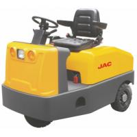 Quality Battery Operated  4 Wheel Platform Truck , Airport Tow Tractor High Range Steering Design for sale