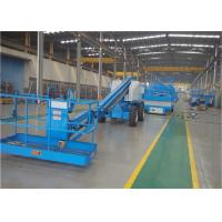 Quality Aerial Electric Boom Lift , Self Propelled Telescopic Booms Zero Radius Turning for sale