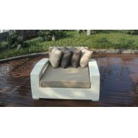 Quality Outdoor Rattan Furniture Lounge Sofa , Luxury Conservatory Sofa Bed for sale