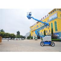 Quality Trailer Mounted Single Man Lift , Towable Articulating Boom Lift Electric Dual Brake System for sale