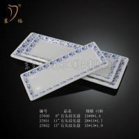 Quality Melamine blue and white porcelain tableware plates plastic spoon dish bowl for sale