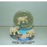 Quality Fashion  Polystone Resin Water Globe With Animal Bear Bases 7 X 7 X 9.5 Cm for sale