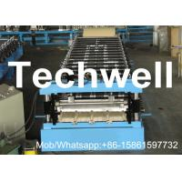 Quality Chain Driving Galvanized Steel Sheet Roll Forming Machine For Making Roof Panel With PLC Control for sale