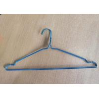 Quality Disposable 16 Inch Dry Cleaner Wire Clothes Hanger Blue Powder Coated for sale