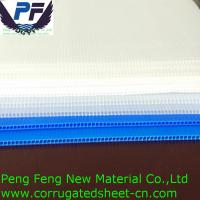 China 4X8 white/blue/green/yellow/red color polypropylene corflute plastic coroplast sign for packing and printing industry on sale