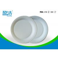Quality Small Size Bulk Paper Plates , Plain White Paper Plates Without Printing for sale