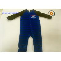 China Fall / Winter Baby Footed Pajamas , Long Sleeves Newborn Pram Suit Sample Approval on sale