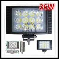 China 36W 6500K Automotive Led Work Lights For Trucks Jeep SUV ATV UTV Offroad In IP68 on sale