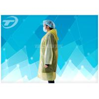 Quality PE  Visitor Disposable Medical Garments With Polyethylene Fabric CE Certificated for sale