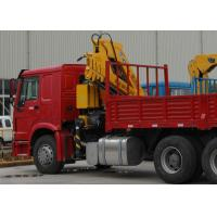 Quality Durable XCMG Knuckle Boom Truck Mounted Crane , Cargo Crane Truck for sale