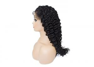 Quality #1B Natural black deep wave long lasting 13x6 lace frontal wig for sale