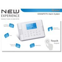 Quality Quad-Band GSM&PSTN Dual Network Touch Keypad LCD Wireless 868Mhz House Alarm System for sale