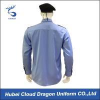 Breathable long sleeve blue security guard shirts mens for Lightweight breathable long sleeve shirts