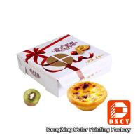Buy cheap Environmental Square Paper Food Boxes Egg Tart Window Paper Box from Wholesalers