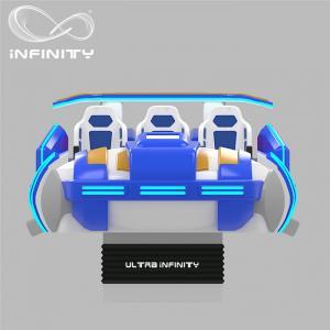 Quality Multi - Player 9D Virtual Reality Cinema Motion Simulator Logo Customization for sale