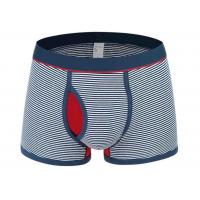 Opening Pouch Men'S Athletic Boxer Briefs Breathable With Striped Pattern