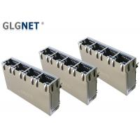 Quality 4 Ports ICM RJ45 Multiple Port Connectors 1G Support 100W UPoE+ With LED for sale