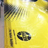 Quality 900 Gsm Heavy Duty PVC Tarpaulin Truck Cover For Cargo In Yellow Color for sale