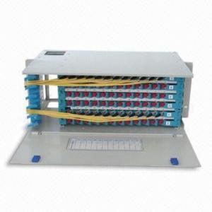 China 1U 24 Port Fiber Optic ODF For Netwrok Distribution , FC ST Fiber Optic Unit on sale