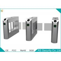 Buy cheap Government Railway Supermarket Swing Gate Bevel Swiping Card Turnstiles System from Wholesalers