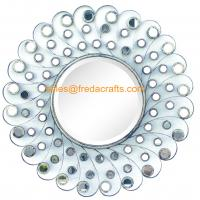 Quality Luxury Design Small Mirror Decorated Metal Frame Home Decor Wall Mirror for sale